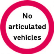 No Articulated Vehicles